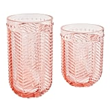 Textured Pink Acrylic Tumblers