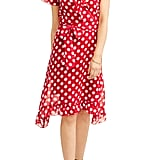 Jaquline Design Studio Ruffle Wrap Polka Dot Dress