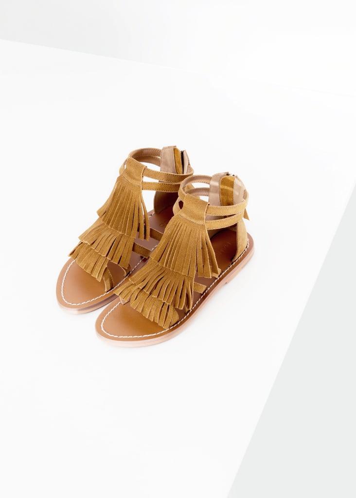 Mango Fringe Suede Sandals ($70)