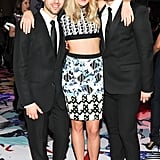 Dree Hemingway with designers Peter Pilotto and Christopher De Vos at Target's party for its Peter Pilotto collaboration.