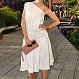 Katie Holmes at the Coach Summer party on the High Line in New York.  Photo courtesy of Neil Rasmus/BFAnyc.com