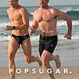 Hugh Jackman Frolicking on the Beach With His Trainer Is Honestly What Life Is About