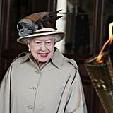 On day 53 of the Olympic flames tour, it visited Queen Elizabeth at Windsor Castle.