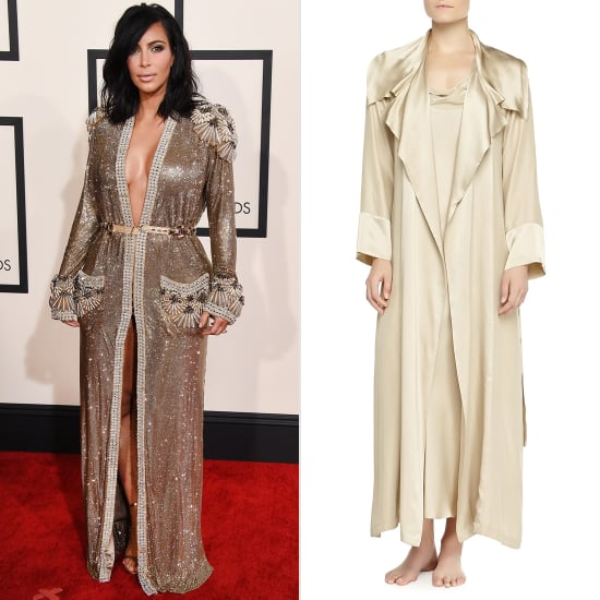 Kim Kardashian Robe Dress at the Grammys