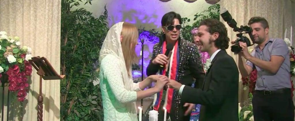 Shia LaBeouf Gets Married  in Las Vegas