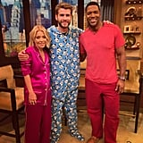 Liam wore a blue panda onesie on Live With Kelly and Michael. Too cute.