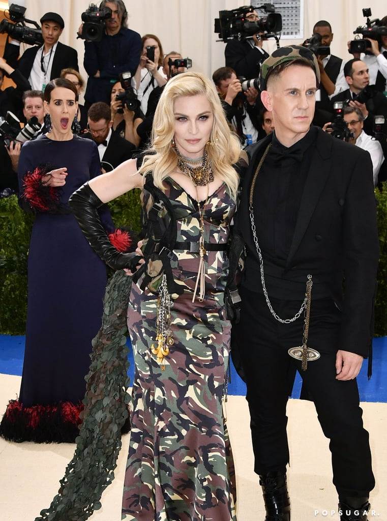 Pictured: Sarah Paulson, Madonna, and Jeremy Scott