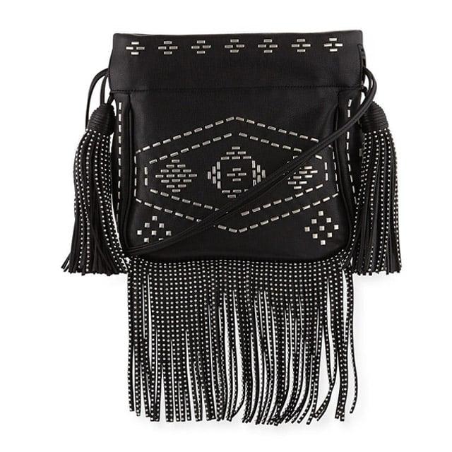 Saint Laurent Monogram Studded Fringe Bucket Bag ($1,650)