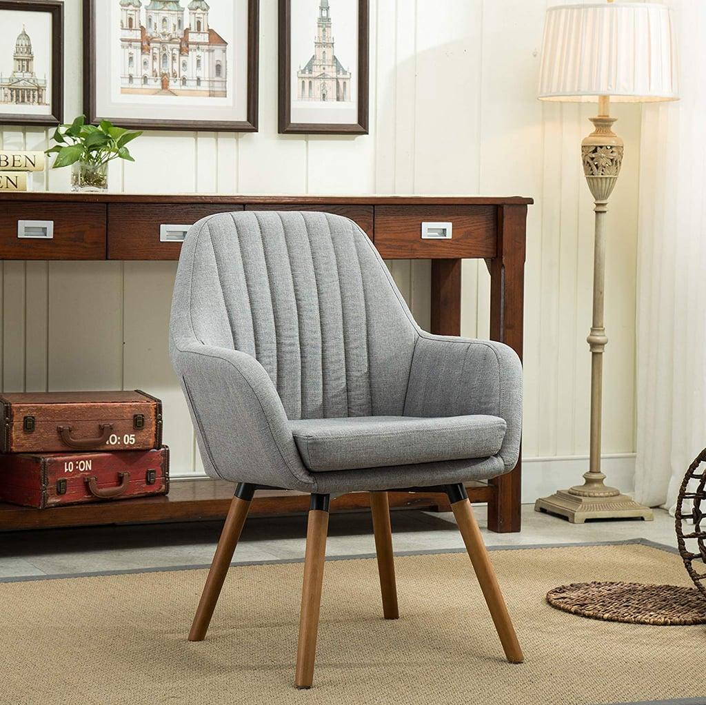 Roundhill Furniture Tuchico Contemporary Fabric Accent Chair