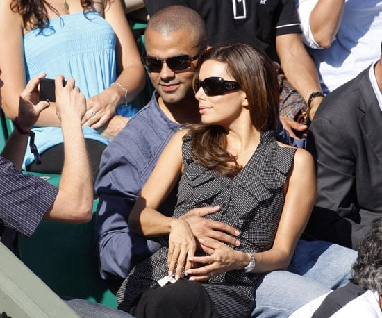 Photo Slide of Tony Parker and Eva Longoria at the French Open