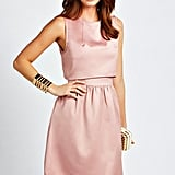 Boohoo Roxy layered satin dress (£25)