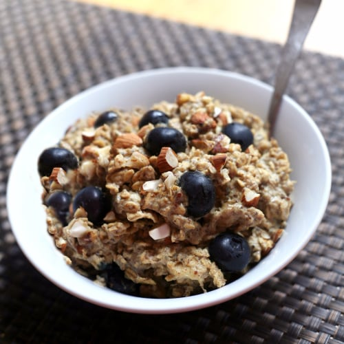 Blueberry Banana Protein-Packed Baked Oatmeal