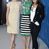 Virginie Ledoyen, Diane Kruger and Léa Seydoux did press together.