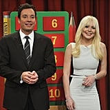 Sporting blonde locks, she scored some major comic relief on Late Night With Jimmy Fallon in early 2012.