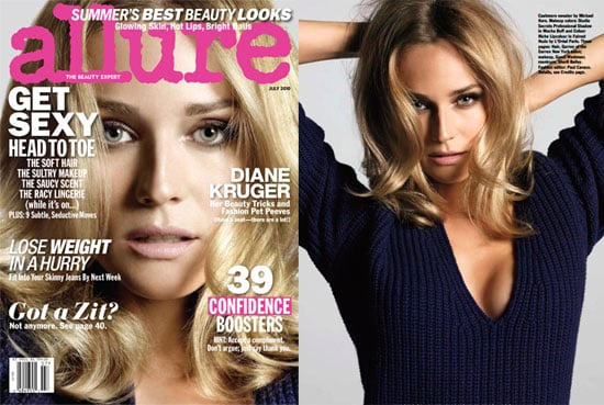 Pictures of Diane Kruger on the July Cover of Allure Magazine