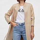 H&M Faux Suede Coat