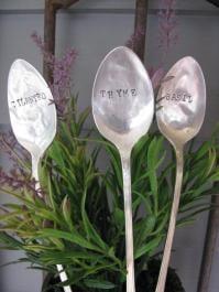 Vintage Silver Spoon Garden Markers ($20)