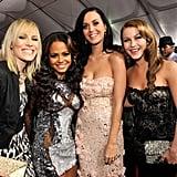 Natasha Bedingfield, Christina Milian, Katy Perry, and Julianne Hough at the 2010 American Music Awards