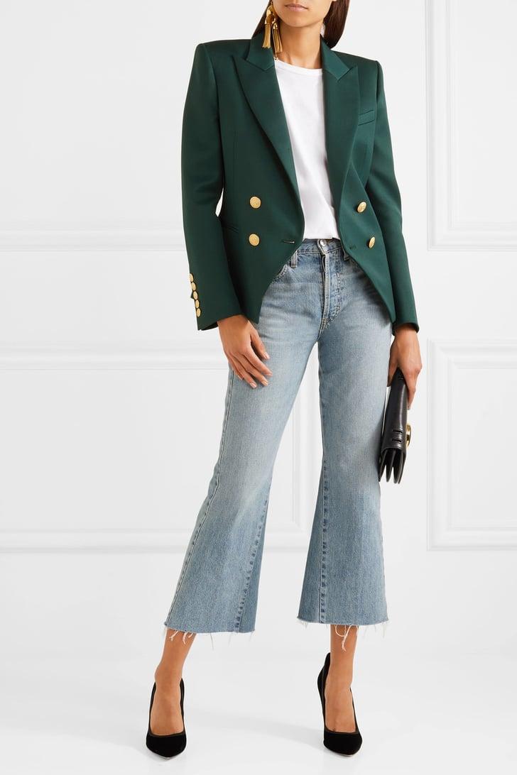 HTOOHTOOH Womens Autumn Slim Fit Double-Breasted Coat Blazer Outwear