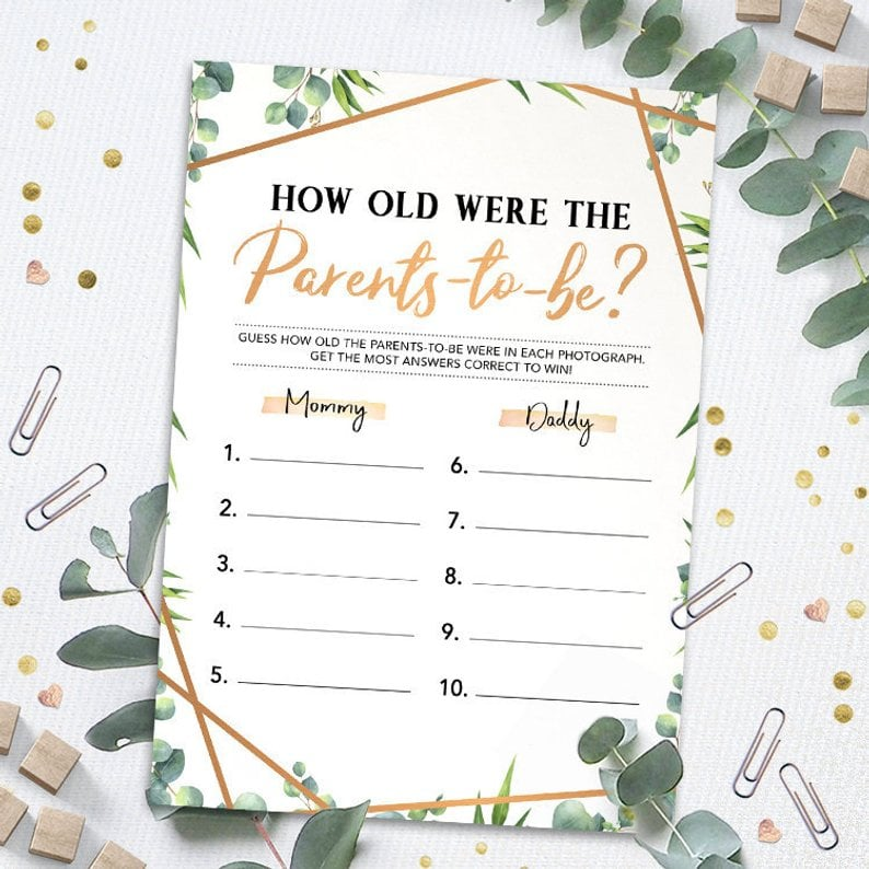 This Baby Shower Trivia Game Involves Both Parents-to-Be
