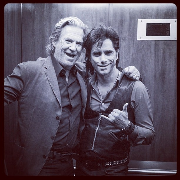 John Stamos posed with Jeff Bridges backstage before his Jesse and the Rippers gig on Late Night With Jimmy Fallon. Source: Instagram user johnstamos