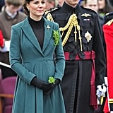 Kate Middleton and Prince William got in the St. Patrick's Day spirit in March when they attended a holiday parade in Aldershot, England.