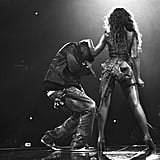 Jay Z joined Beyoncé on stage during her performance at Revel in Atlantic City, NJ, in May 2012.