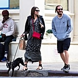 Jake Gyllenhaal couldn't help but show off his jovial spirit around Alyssa Miller in NYC on Wednesday.