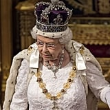 Queen Elizabeth was all blinged out during the State Opening of Parliament at the Palace of Westminster in May.