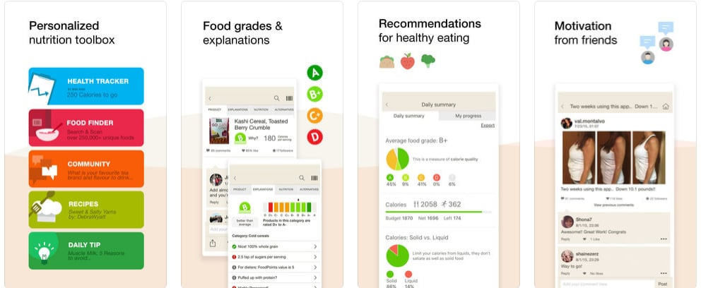 fooducate nutrition tracker healthy eating apps popsugar fitness