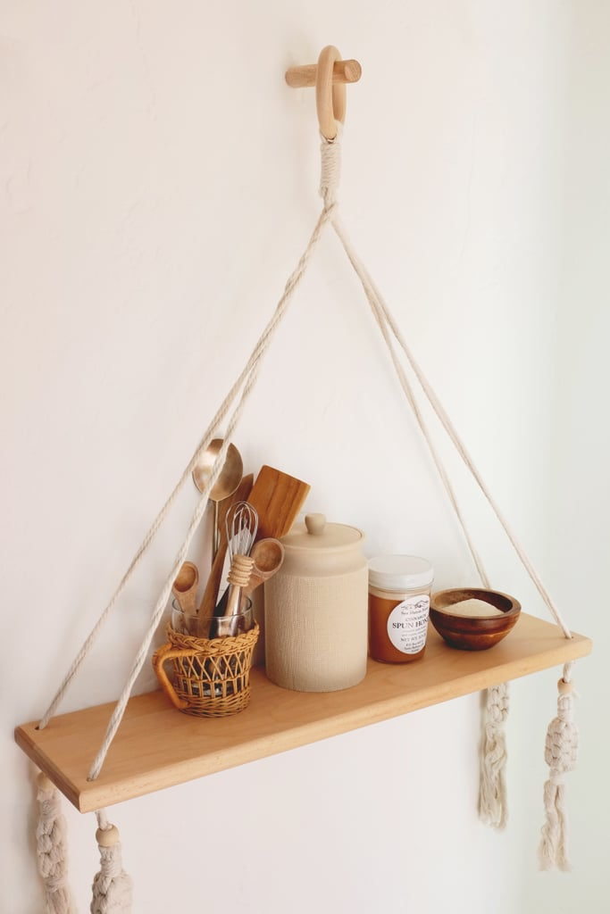 How to Style a Hanging Wall Shelf