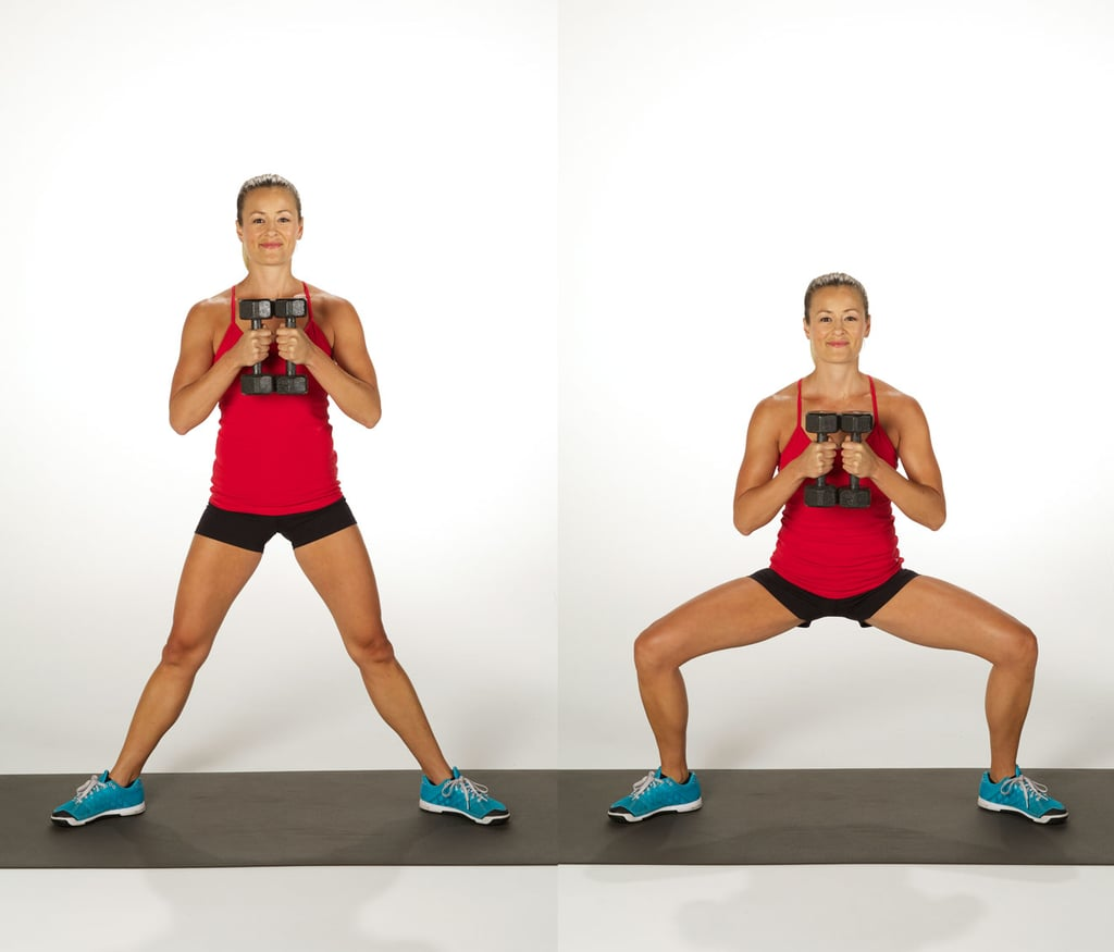 Dumbbell Sumo Squat | Bum Workout With Dumbbells ...