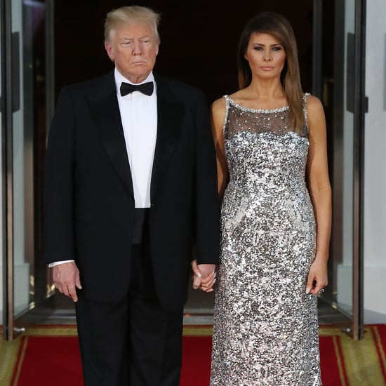 Melania Trump Sequined Chanel Dress at State Dinner 2018