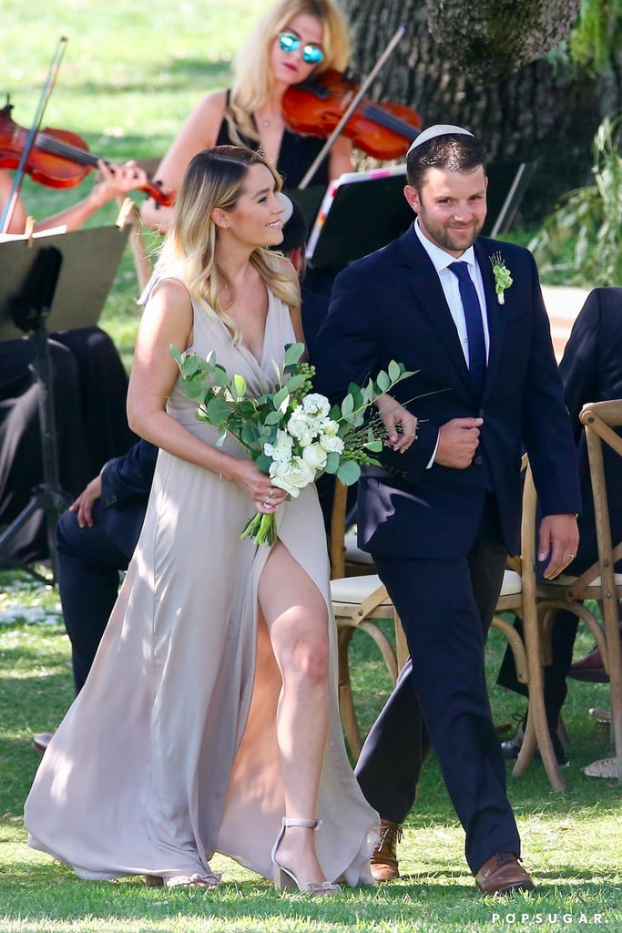 Lauren Conrad Bridesmaid at Friend's Wedding August 2017
