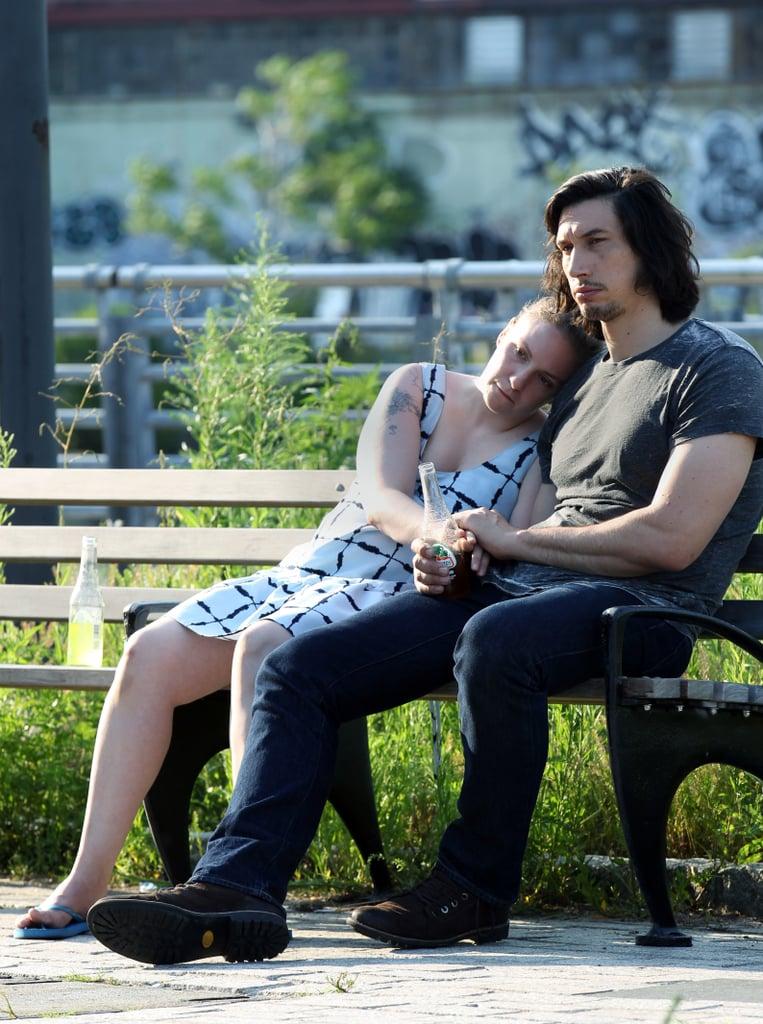 Lena Dunham and Adam Driver Filming Girls July 2016