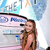 Sabrina Carpenter With Golden-Brown, Wavy Hair in 2012
