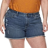 EVRI Plus Size Fit Solutions Denim Shorts