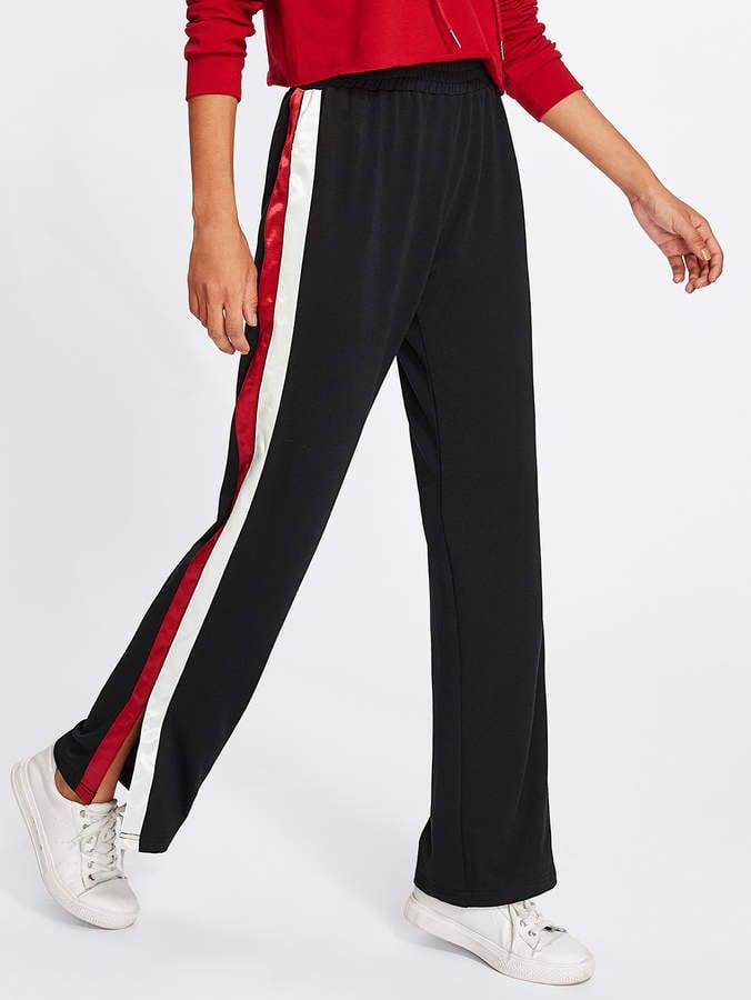 Shein Striped Slit Pants
