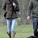 Kate Middleton walked with her puppy Lupo.