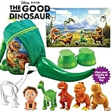 The Good Dinosaur Showbag ($10) Includes:  Choice of dinosaur soft toys  Dinosaur foot stompers  Dinosaur backpack with inflatable tail
