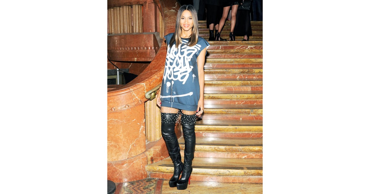 Ciara played with proportions in a graffiti minidress and ...