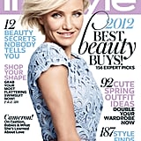 Cameron Diaz on the May 2012 cover of InStyle.