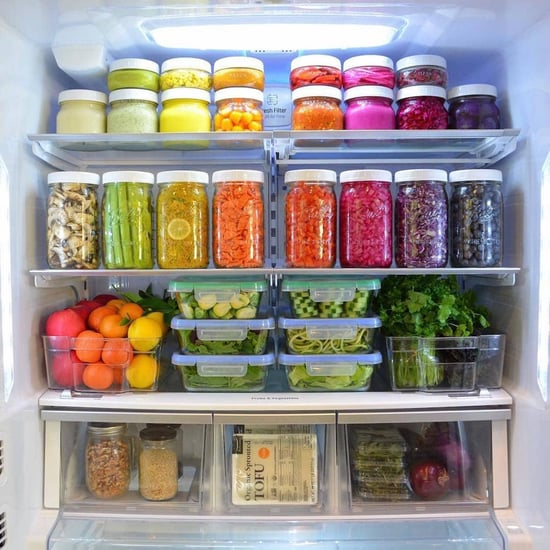 Meal-Prepped Fridge Pictures