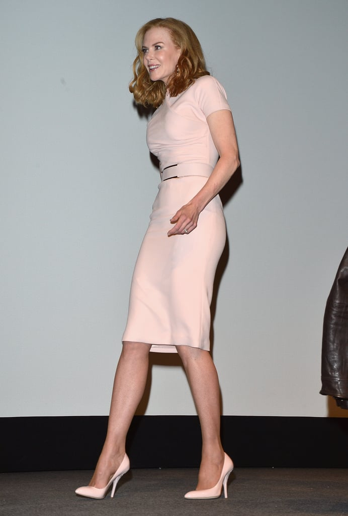 Nicole exuded ladylike glam in her pink dress.