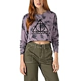 Vans x Harry Potter Deathly Hallows Long-Sleeved Crop Tee