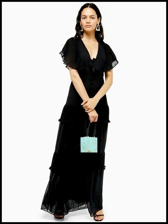 Topshop Pleated Maxi Dress