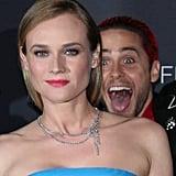 Jared Leto Photobombs Diane Kruger on the Red Carpet