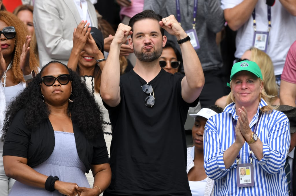 Pictures of Alexis Ohanian Cheering For Serena Williams
