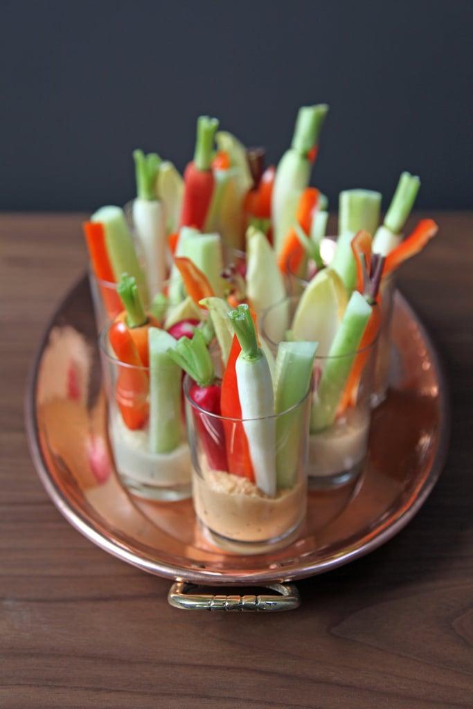 Individual Hummus and Crudites Cups