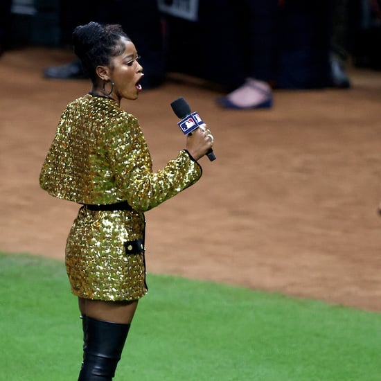 Keke Palmer Wears a Gold Suit at the World Series